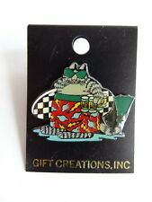 Kliban Cool Cat Enamel Metal Hip Beer Surf Surfing Pin Mint On Card Vintage