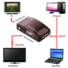 VGA to Video,PC Laptop Notebook to TV RCA Composite S-video VIDEO Converter Box