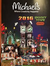 2016 NEW Lemax SPOOKY TOWN HALLOWEEN VILLAGE Michael's Store Brochure Catalog