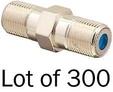 Lot 300 F81 Barrel Coax Cable Splice Connectors RG6 3GHz PPC CF81GHZC DirecTV HD