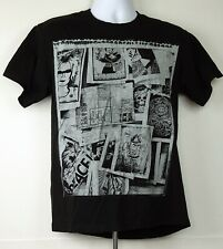 OBEY Black Classic Prints and Images Collage S/S T-Shirt M