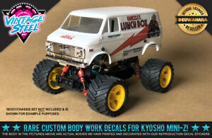 "Kyosho Mini-Z Tamiya ""LUNCHBOX"" (White) 1/24 R/C Body Decals for MB01 Buggy"