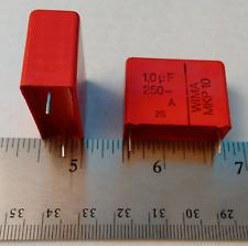 4pcs NEW WIMA MKP10 1uF 1.0uF 250V Metalized Polypropylene (PP) Film Capacitors