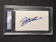 Jeff Gordon Rare! early signed encapsulated 3x5 index card PSA/DNA cert slabbed