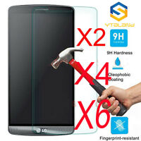 6X 9H+ Premium Tempered Glass Film Screen Protector Guard Cover For LG G3 G4 G5