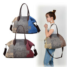 Women Large Shoulder Bags Cross Body Tote Canvas Handbags Casual Graffiti Pouch