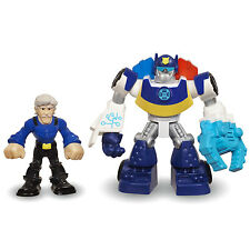 Playskool Heroes Transformers Rescue Bots CHASE Police-Bot & CHARLIE BURNS Figs