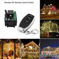 DC12V 1CH Relay Receiver RF Transmitter 433Mhz Wireless Remote Switch F3J2