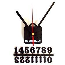 Silent Quartz Clock Craft Making Kit - 20mm Black Numbers - 119mm Black Hands