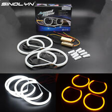 LED Cotton Light Halo Ring Angel Eyes Dual Color Switchback For BMW 3 Series E46