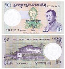 Bhutan 10 ngultrum 2006 UNC banconote P-29a