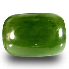 14.52 ct Cushion Cabochon Cut (18 x 12 mm) Olive Green Un-Heated Serpentine