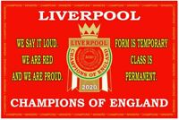 LIVERPOOL LEAGUE CHAMPIONS BIG FLAG. size 5ft x 3ft - 150cm x 90cm. Large flag