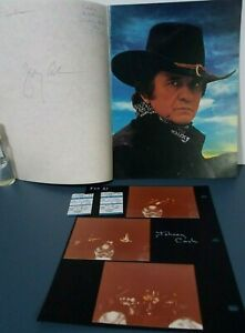 JOHNNY CASH & STEVE GOODMAN CONCERT PROGRAM SIGNED BY BOTH + PICTURES & TICKETS