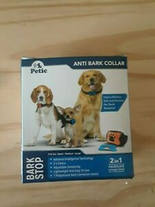 Petic Dog Anti Bark Collar for Small Large Dogs No Shock Barking Collars