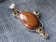STERLING 925 SILVER ORANGE ECLIPSE & CITRINE PENDANT SILVERANDSOUL HANDCRAFTED