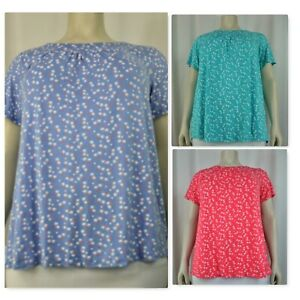 womens small flower half sleeve top, plus sizes(14-32)