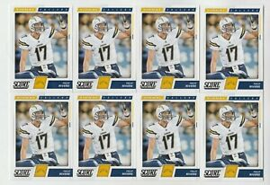 """(8) Philip Rivers 2017 SCORE """"SIGNAL CALLERS"""" INSERT LOT #24 CHARGERS"""