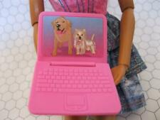 Pink BARBIE DOLL LAPTOP Dog Pet Lab Ponytail COMPUTER I can be DR VET Mini Toy