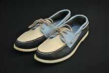 Sperry Top Sider Shoes Deck Boat Blue Leather Men's 12 M Tri - Tone