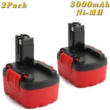 2x 14.4V 3000mAh Ni-MH Batería Para BOSCH BAT038 BAT040 PSR GSR PSB GSB 14.4V