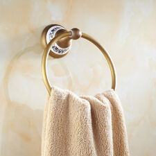 Luxury Chrome Round Hand Towel Ring Holder Wall Mounted For Kitchen Bathroom NDJ
