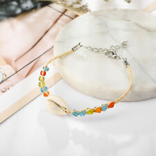 Boho Colorful Beads Leg Bracelets For Women Natural Shell Anklet Foot Jewelry