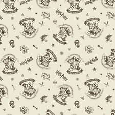 Cream Assets - Harry Potter Cotton Fabric Material