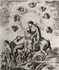 STEFANO DELLA (1610 1664) The Flight into Egypt 1649 LA FUGA IN EGITTO Italia