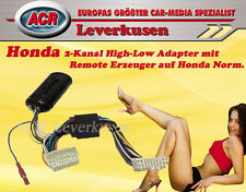 2-KANAL HIGH-LOW ADAPTER MIT REMOTE FÜR HONDA VERSTÄRKER ADAPTER PLUG & PLAY