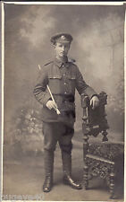 WW1 soldier Cheshire Regiment wears Gor Blimey Khaki Cap Bantam Battalion ?