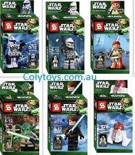 Starwars Minifigs Yoda, Obi Wan, Han Solo, clones, droids Minifig - use da force