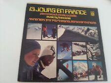 13 JOURS ET FRANCE OST  RARE COVER ISRAELI  LP  FRANCIS LAI, NICOLE CROISILLE,