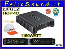 Hertz HCP4D Amplificatore 4CH 1160 WATT GARANZIA ITALIA + CAPPELLO HERTZ OMAGGIO