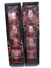 Hennessy Cognac Crystal Glass Roly Poly Snifter Stemless Bubble Glass Set of 8