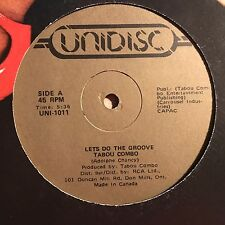 "Tabou Combo ""Let's Do The Groove"" Unidisc Records Disco/Funk Single VG++"