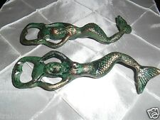 One ; Green & Gold, Heavy, Cast Iron Mermaid, Bottle Opener. Best Price $