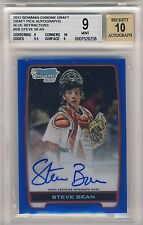 2012 BOWMAN CHROME D.P.,AUTO,058/150, BLUE REF. STEVE BEAN, RC,CARDINALS, BGS 9
