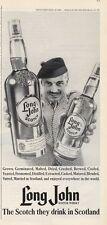 1965 Long John Scotch Whiskey Vintage Bottle PRINT AD