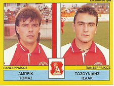N°452 PLAYERS PANSERRAIKOS FC GREECE PANINI GREEK LEAGUE FOOT 95 STICKER 1995