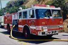 505071 Hose Lay At Canyon Fire Near Popular Resort Hotels A4 Photo Print