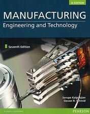 NEW Manufacturing Engineering and Technology 7E w Code Kalpakjian 7th Si Edition