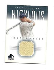 RARE 2001 SP  # GN-TS GARY NICKLAUS  GAME-USED SHIRT  CARD