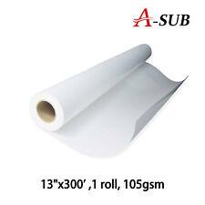 "A-SUB 13""x300' 91m Dye Sublimation Roll Heat Transfer Paper Mugs Cotton T-shirt"