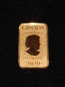 2020 $25 Royal Canadian Mint Gold Bar 1/10 oz  24KT .9999