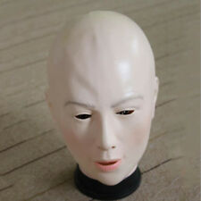 LATEX FEMALE DISGUISE CROSS DRESS TRANSGENDER RUBBER FULL HEAD LADY WOMAN MASK