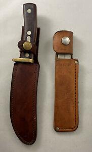 Vintage Schrade Knife Old Timer 165 with Leather Sheath & Honesteel