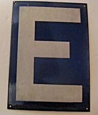 ORIGINAL VINTAGE BLUE PORCELAIN LETTER E ~ MAKE A NAME / SIGN GIFT ~  LOT 6
