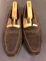 Bally Devon Mens Brown Suede Dress Loafers Size 11 B Made in Italy