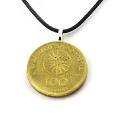 Collier pièce de monnaie Grèce 100 drachmes Alexandre le Grand